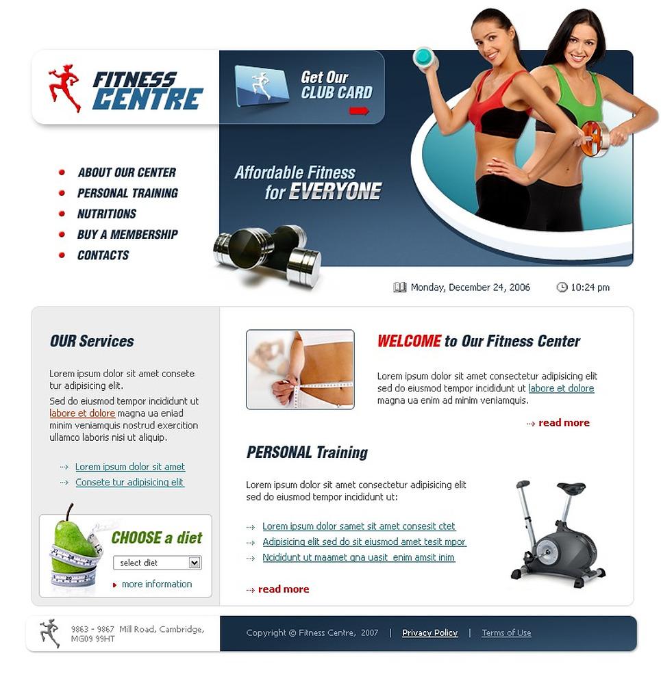 website vorlage 15002 f r fitness
