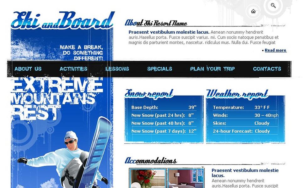Snowboarding Flash Template New Screenshots BIG