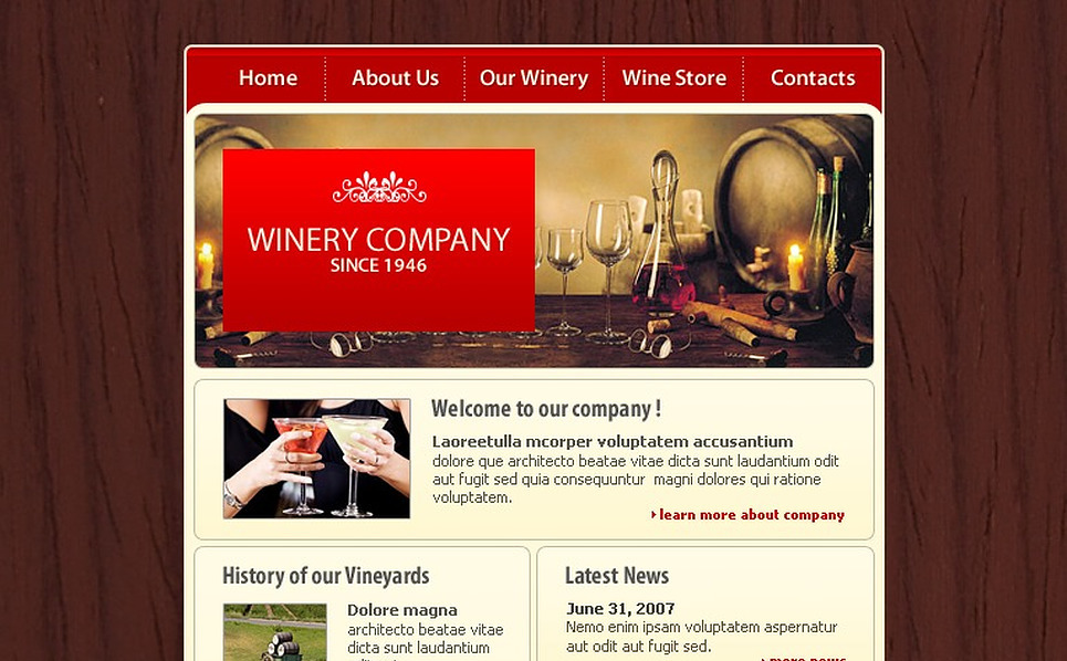 Winery Flash Template New Screenshots BIG