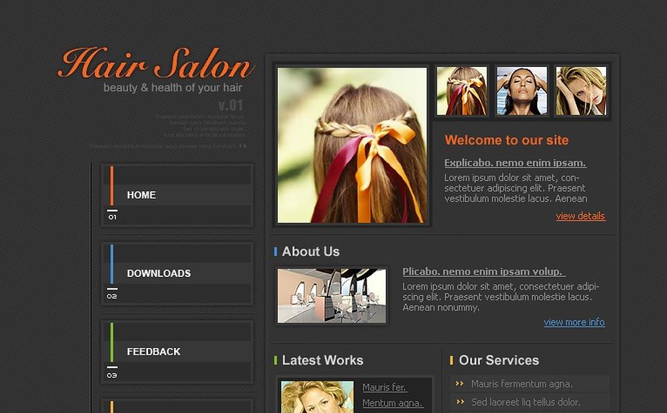 Hair Salon PHP-Nuke Template New Screenshots BIG