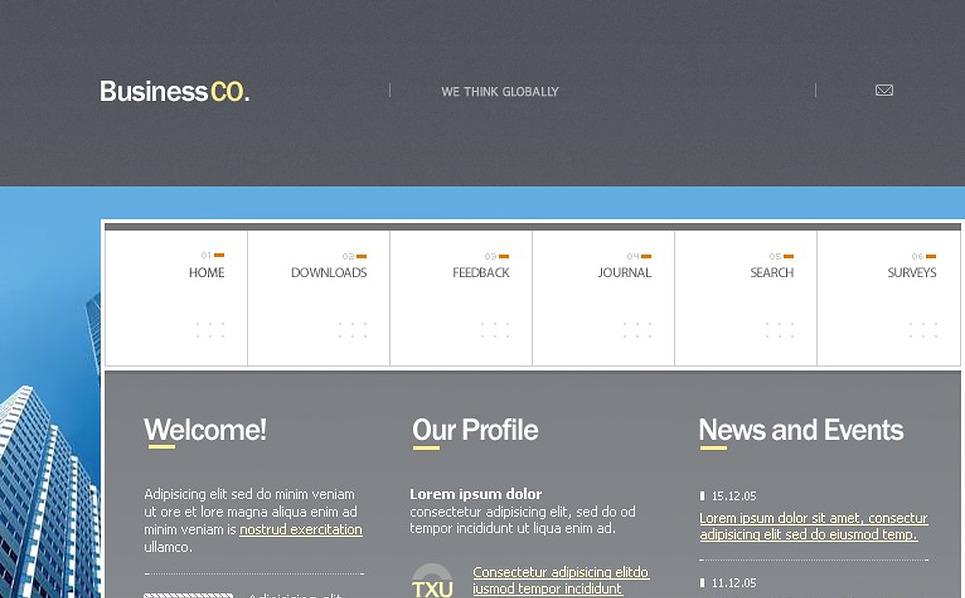 Business PHP-Nuke Template New Screenshots BIG