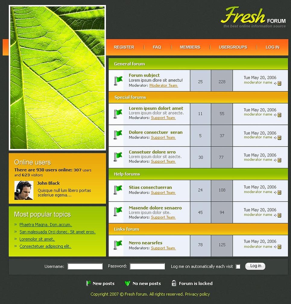 Дизайн сайта форум
