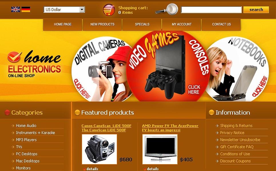 Electronics Store CRE Loaded Template New Screenshots BIG