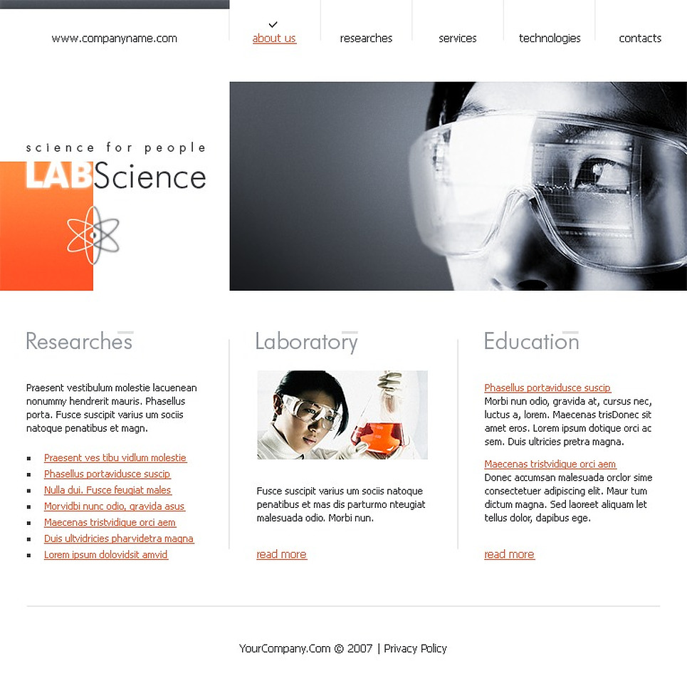 Science Flash Template New Screenshots BIG