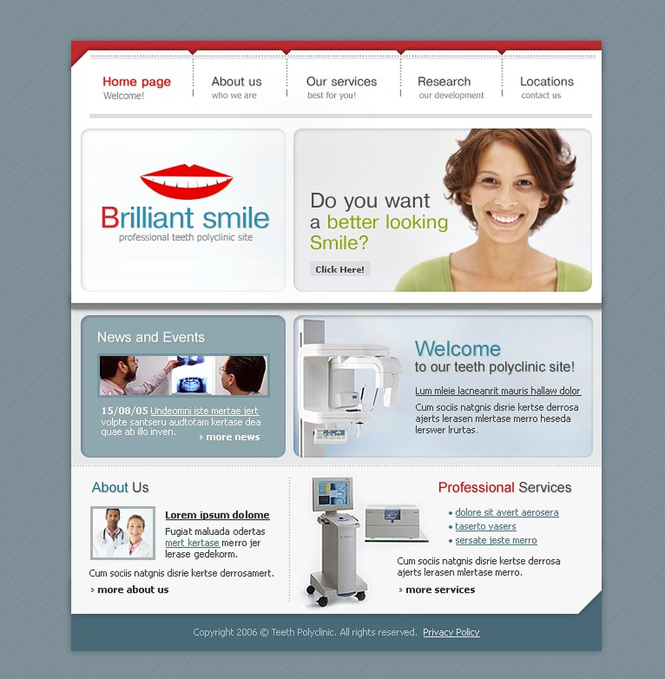 Dentistry SWiSH Template New Screenshots BIG