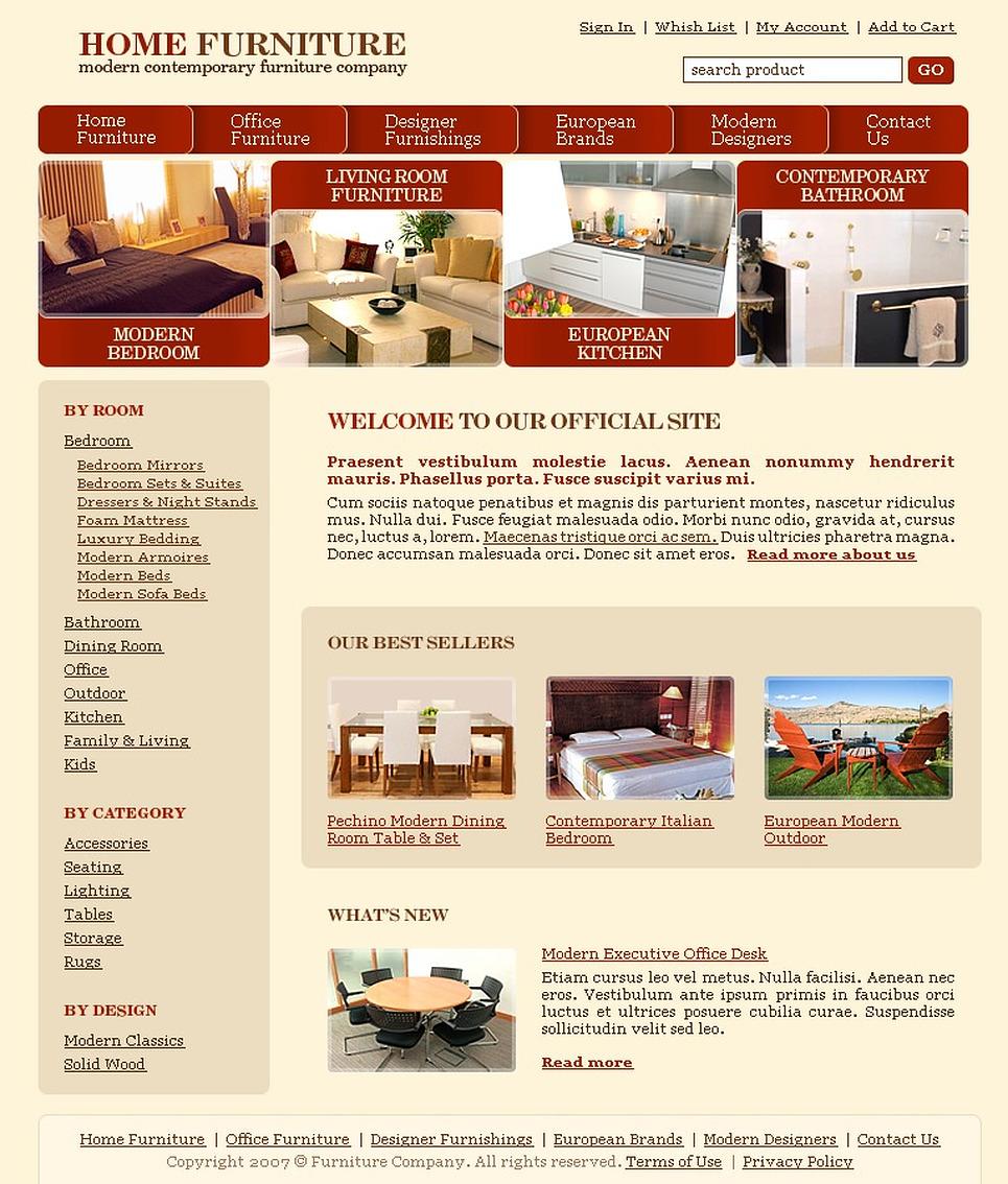 furniture website template web design templates website templates download furniture website. Black Bedroom Furniture Sets. Home Design Ideas