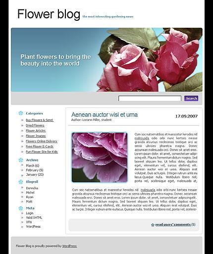 Captura de página principal de plantilla wordpress