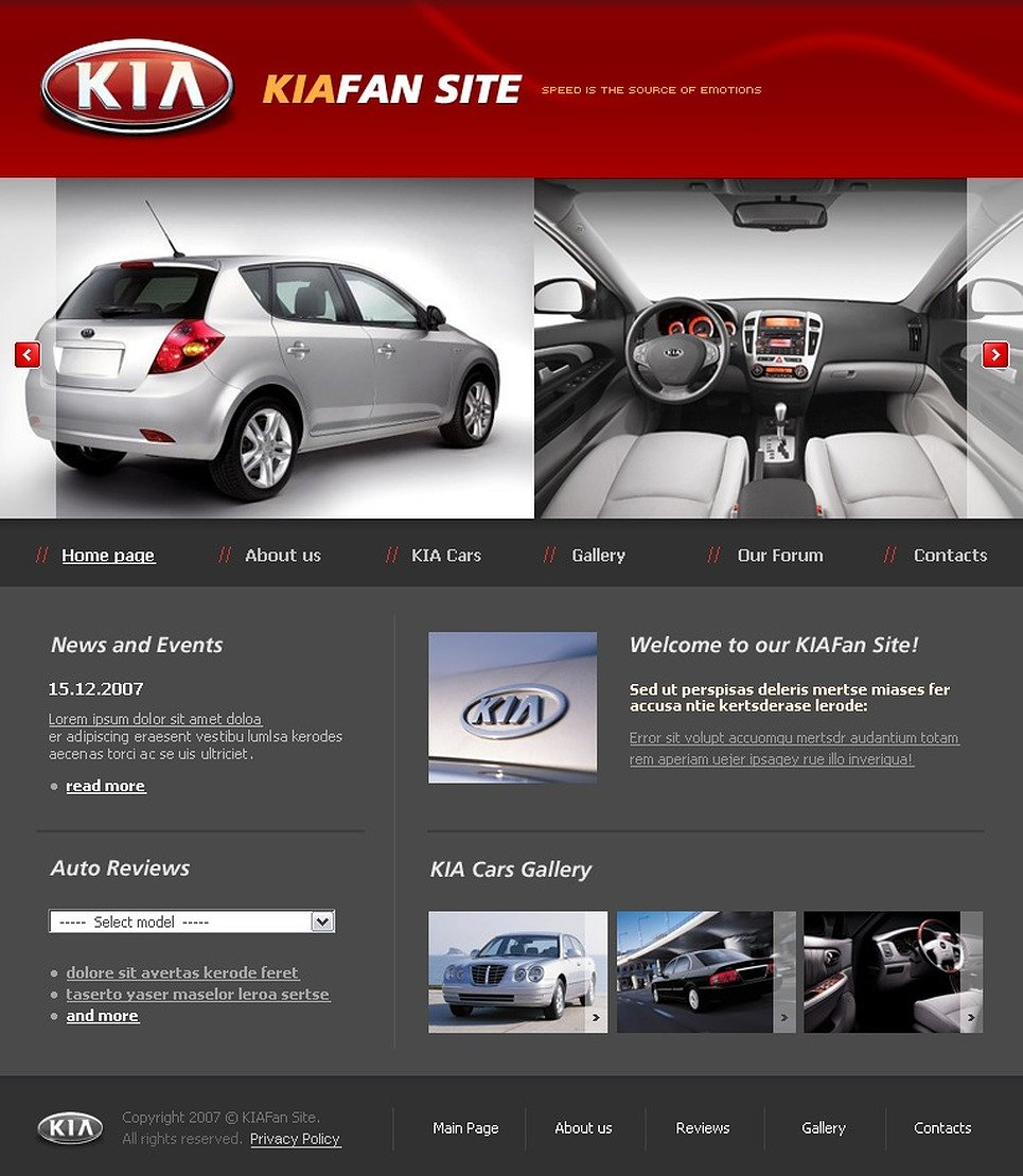 Car Club Website Template New Screenshots BIG