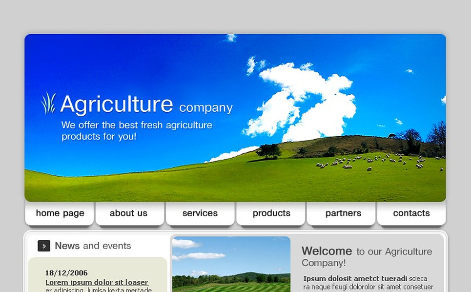 Agriculture SWiSH Template New Screenshots BIG