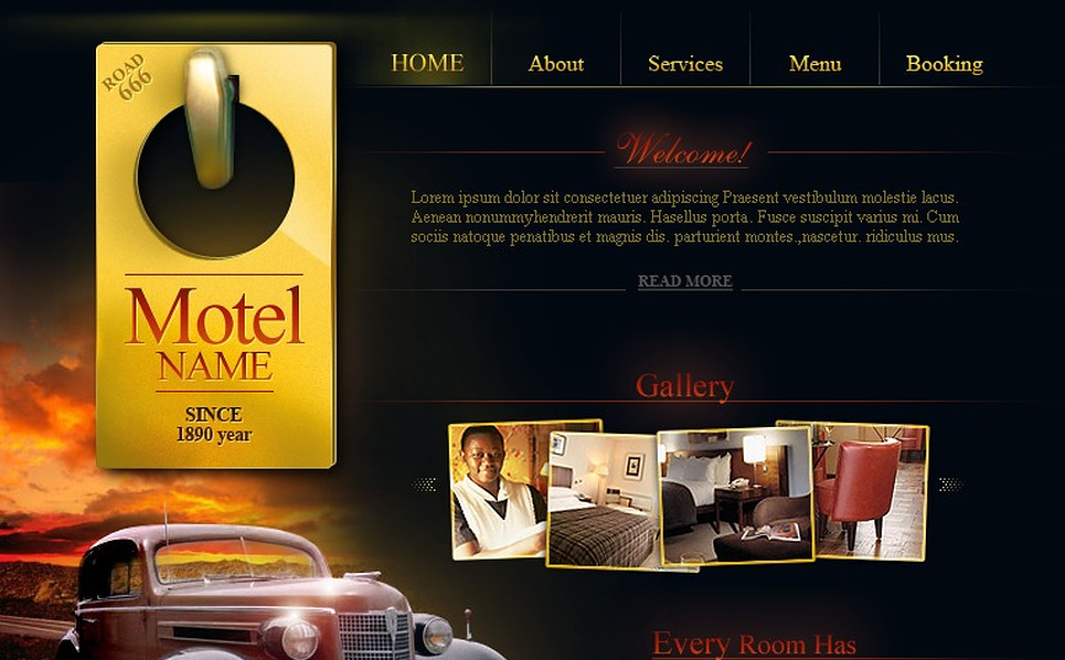 Motel Flash Template New Screenshots BIG
