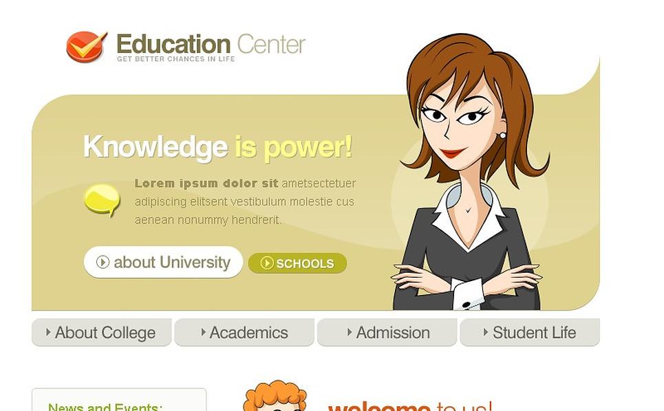 Education Website Template New Screenshots BIG