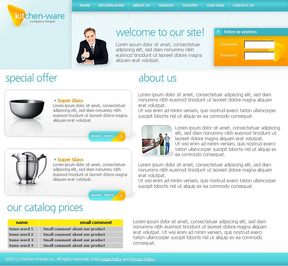 Housewares Website Template New Screenshots BIG