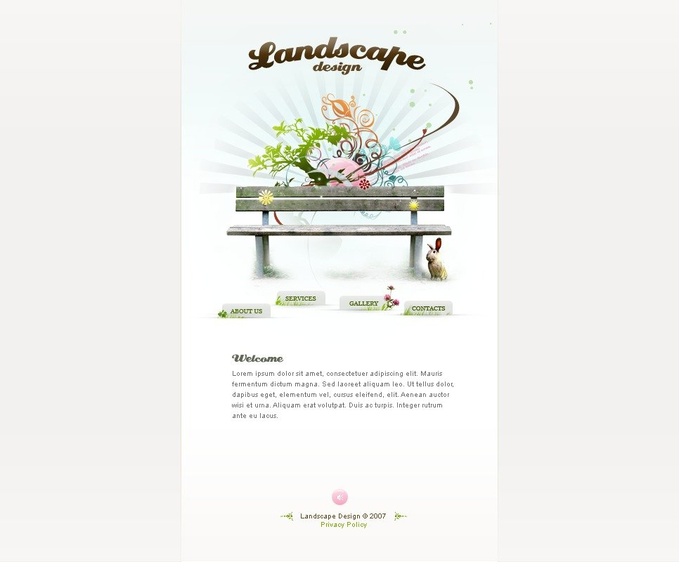Landscape design flash template 16034 for Garden design questions