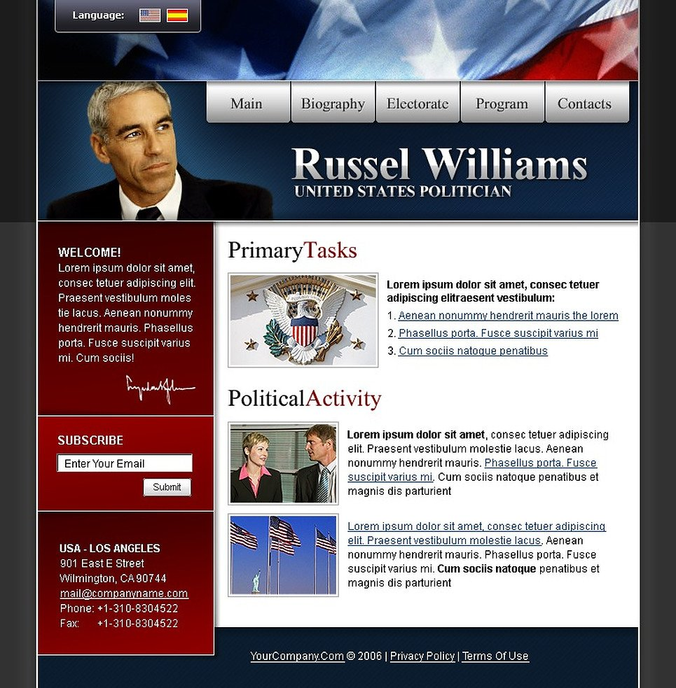 Political Candidate SWiSH Template New Screenshots BIG