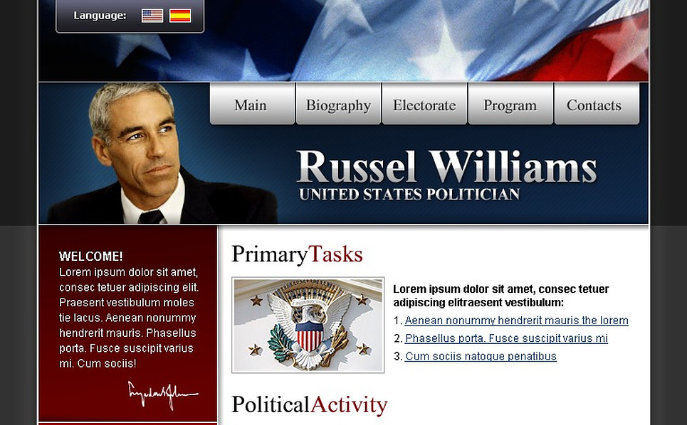 Political Candidate SWiSH Template New Screenshots BIG