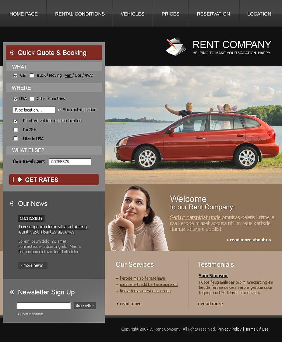 Car Rental Website Template New Screenshots BIG