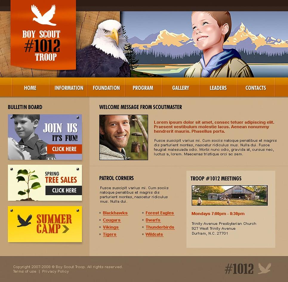 boy scout powerpoint template - boy scout website template 16322