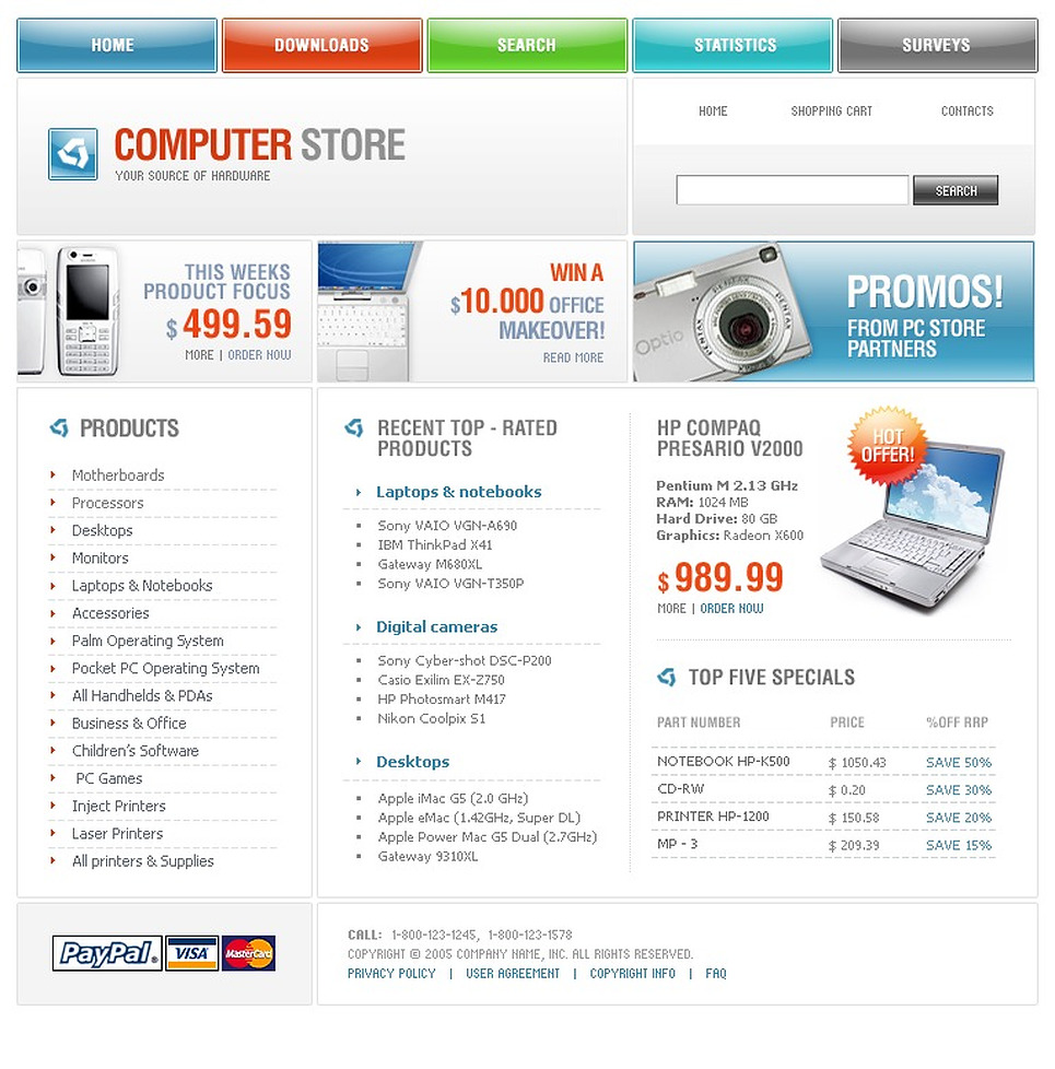 Computer Store PHP-Nuke Template New Screenshots BIG
