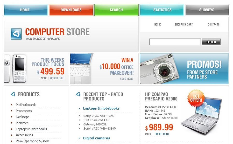 Computer Store PHP-Nuke Template New Screenshots BIG