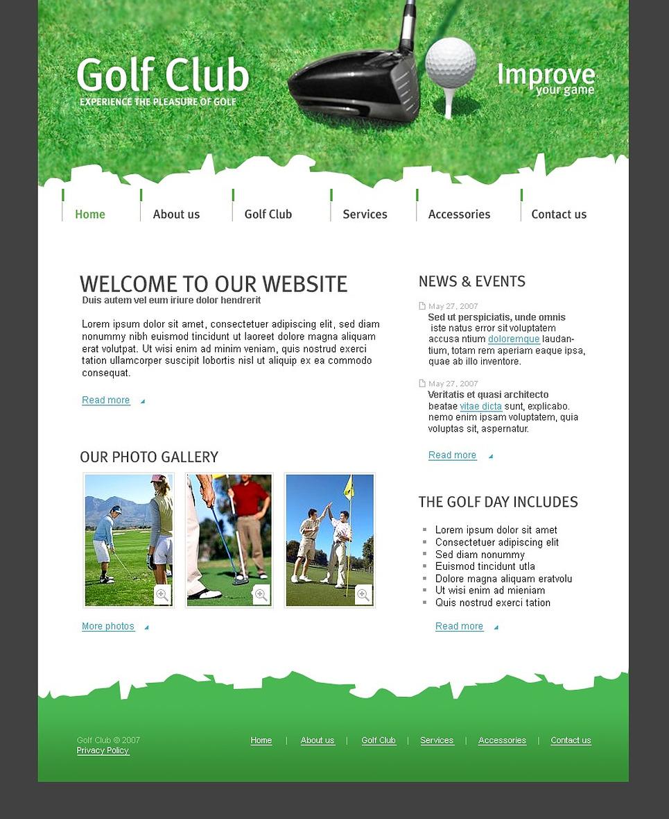 golf website template web design templates website templates download golf website template. Black Bedroom Furniture Sets. Home Design Ideas
