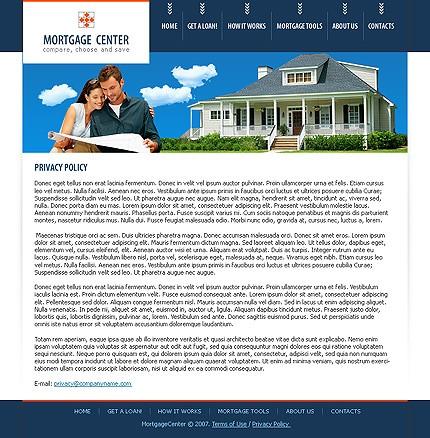 mortgage website template 16494. Black Bedroom Furniture Sets. Home Design Ideas