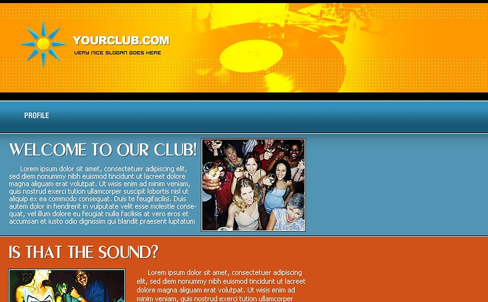 Night Club PHP-Nuke Template New Screenshots BIG