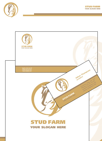 Horse Corporate Identity Template Vector Corporate Identity preview