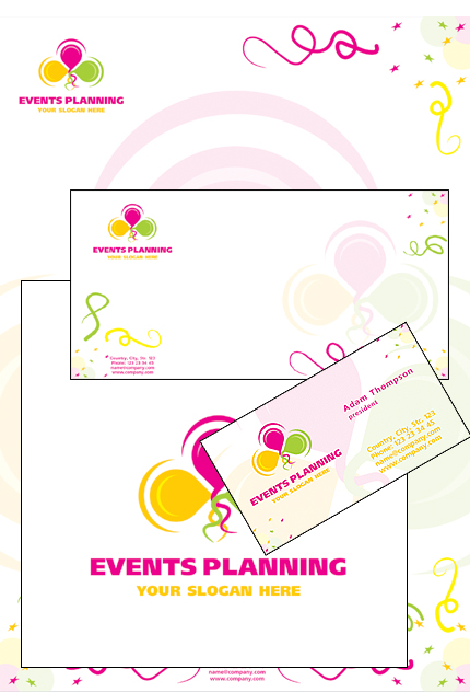 Event Planner Corporate Identity Template Vector Corporate Identity preview