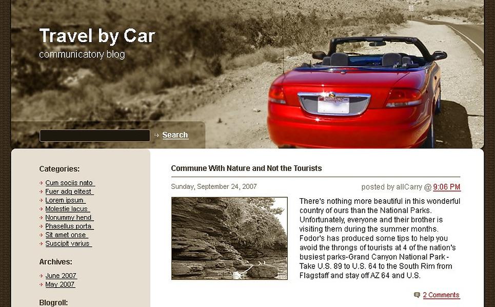 Car WordPress Theme New Screenshots BIG