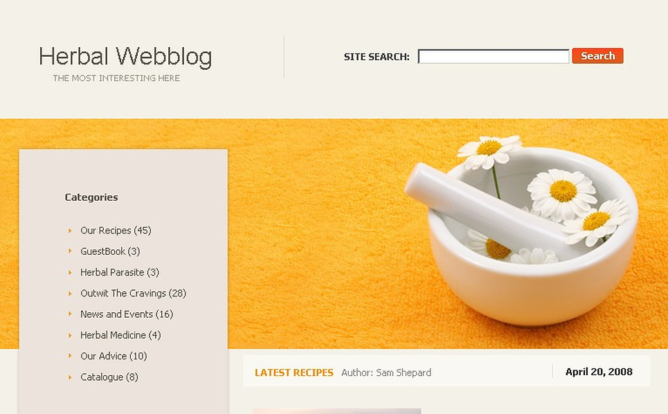 Herbal WordPress Theme New Screenshots BIG