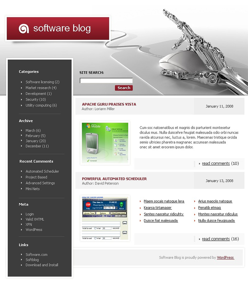 wordpress website design software