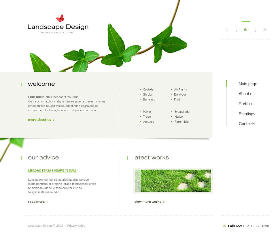 Landscape Design Website Template New Screenshots BIG