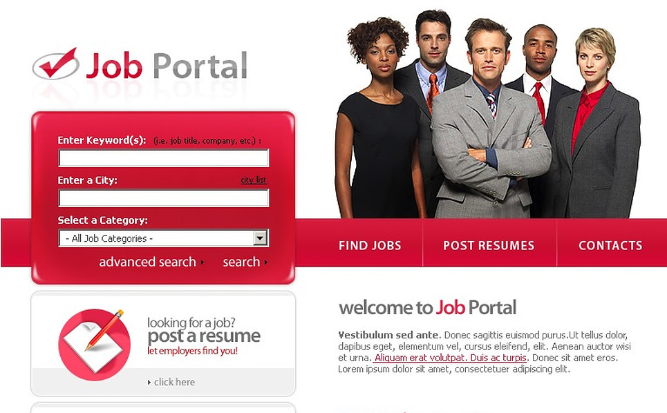 Job Portal Website Template New Screenshots BIG