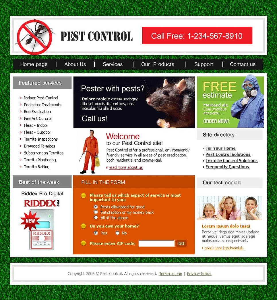 Pest Control Swish Template 16774
