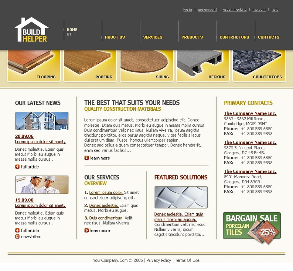 Maintenance Services SWiSH Template New Screenshots BIG