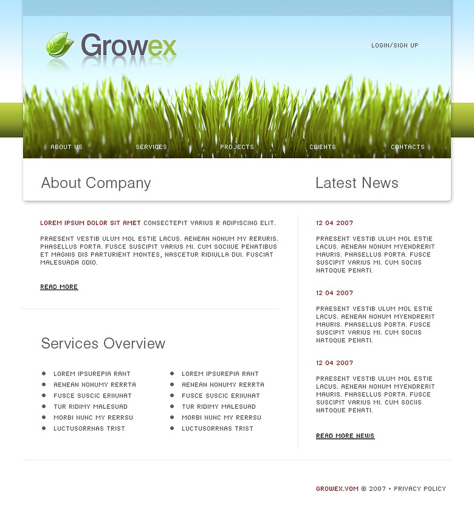 Neutral Website Template New Screenshots BIG