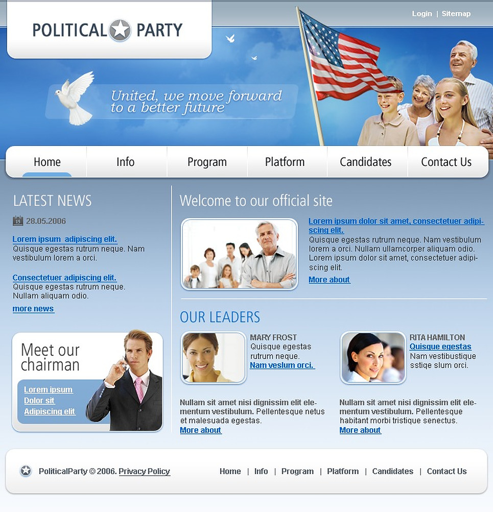Political Party SWiSH Template New Screenshots BIG