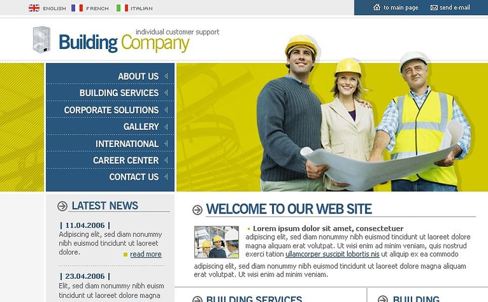 Construction Company SWiSH Template New Screenshots BIG