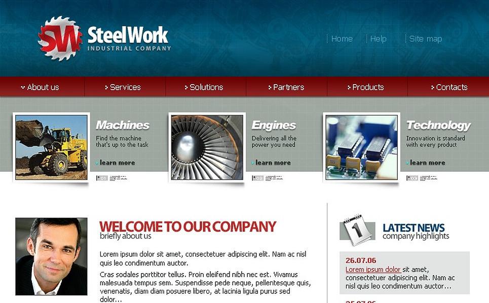 Steelworks SWiSH Template New Screenshots BIG