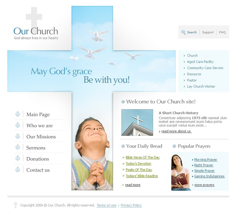 Christian SWiSH Template New Screenshots BIG
