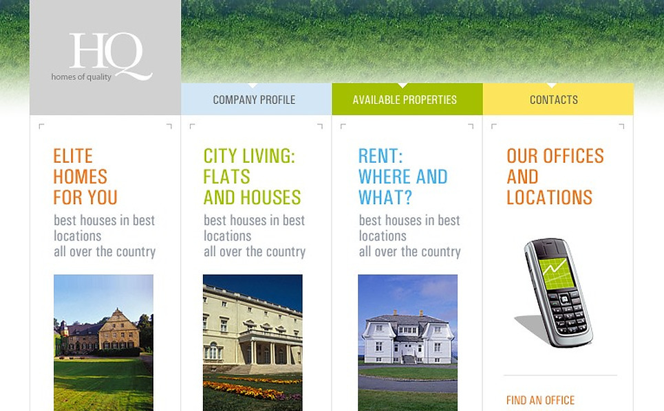 Real Estate Agency SWiSH Template New Screenshots BIG