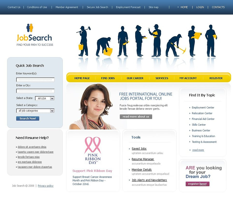 job portal Find jobs in europe, with or without work permit tens of thousands of vacancies in countries such as germany, united kingdom, france, netherlands, etc.