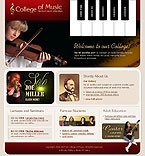 Template #17447  Keywords: music college education school knowledge students teachers courses violin cello piano guitar jazz treble clef strings director history children masters talented tunes melodies alumni library collection symphony concert facilities hall career