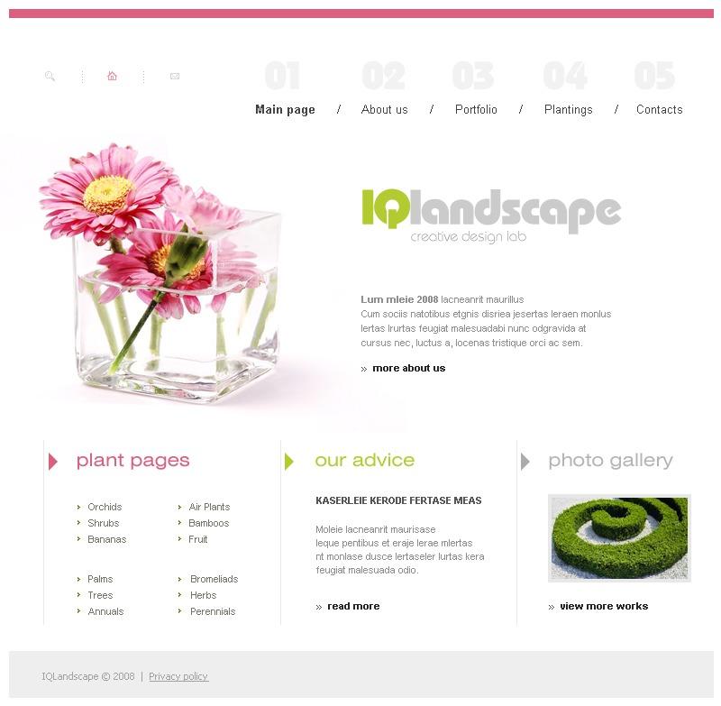 Landscape design website template 17451 for Garden design questions