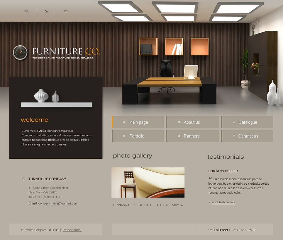 Furniture website template 17490 for Home design ideas website