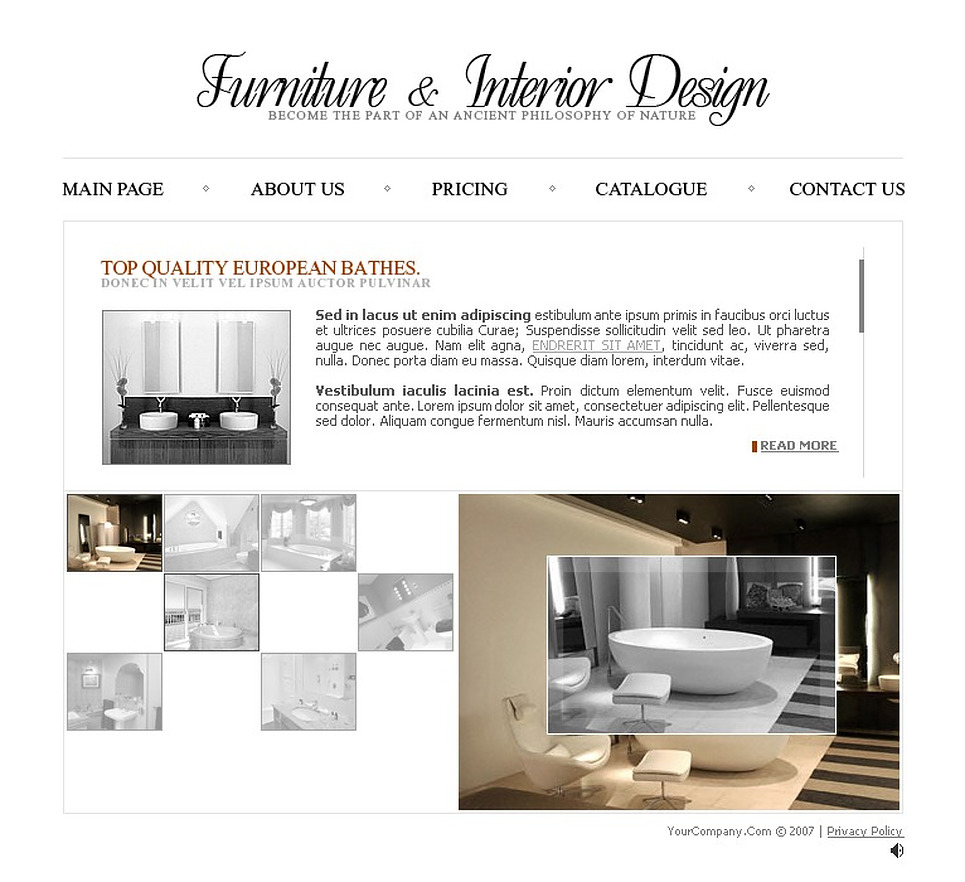 Interior Furniture Flash Template Web Design Templates Website Templates Download Interior