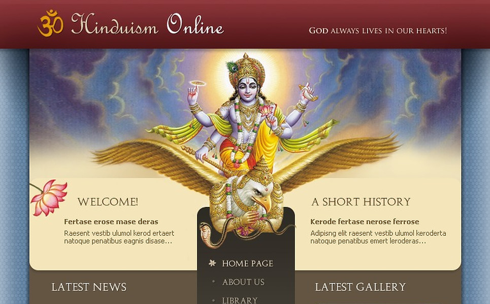 Hinduism Website Template New Screenshots BIG