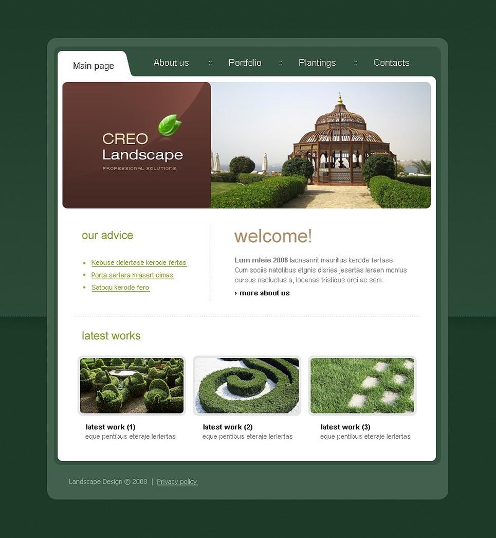Landscape Design Website Template Web Design Templates