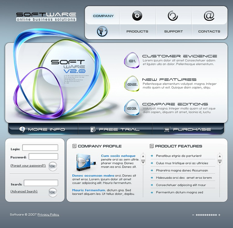 Software Company Flash Template New Screenshots BIG