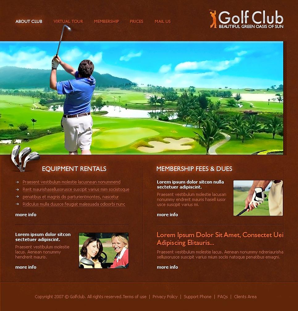 golf flash template web design templates website templates download golf flash template 17737. Black Bedroom Furniture Sets. Home Design Ideas